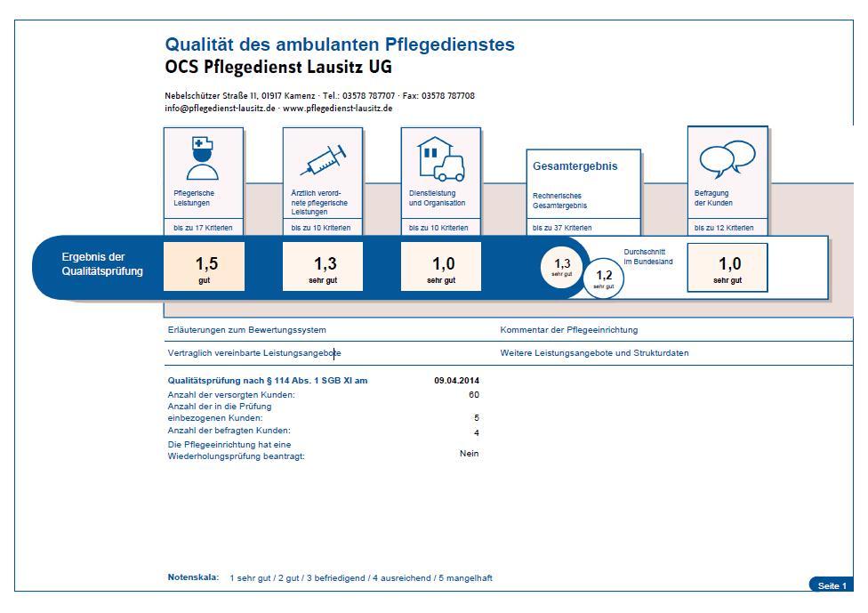 MDK-Bericht Prüfung Pflegedienst Lausitz